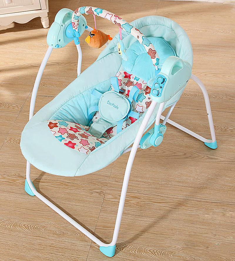 Baby Swing Rocking Chair Multi-functional Bluetooth Remote Control Comfortable Baby Lounger Portable Folding Newborn Crib Bed