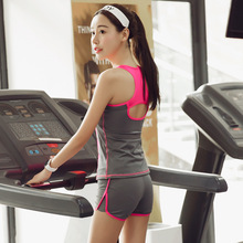 Yoga Sets Women s tracksuit sportswear costumes for women leggins women fitness breathable female T shirt