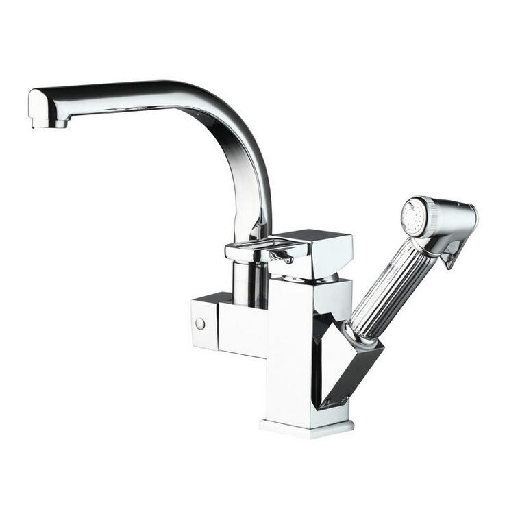Copper stretched kitchen faucet chrome hot and cold, Bathroom sink basin faucet pull down, Rotated dish basin faucet mixer tap bakala copper hot and cold mixer water tap basin kitchen bathroom wash basin faucet g 8046