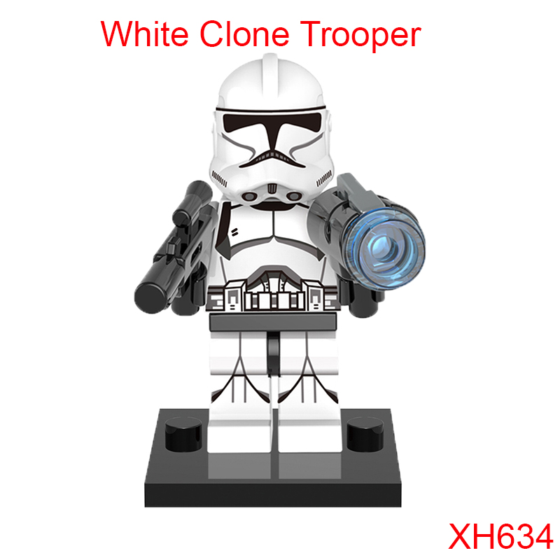 White Clone Trooper Star Wars Building Block Single Sale Galactic Republic Super Heroes Figures Gift For Children Xh634