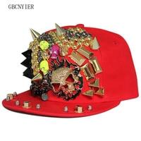 GBCNYIER Hip Hop Sport Hat Skull Male Dance Cap Sport Team Show Female Visor Cool Man Street Show Bone Hat Cotton