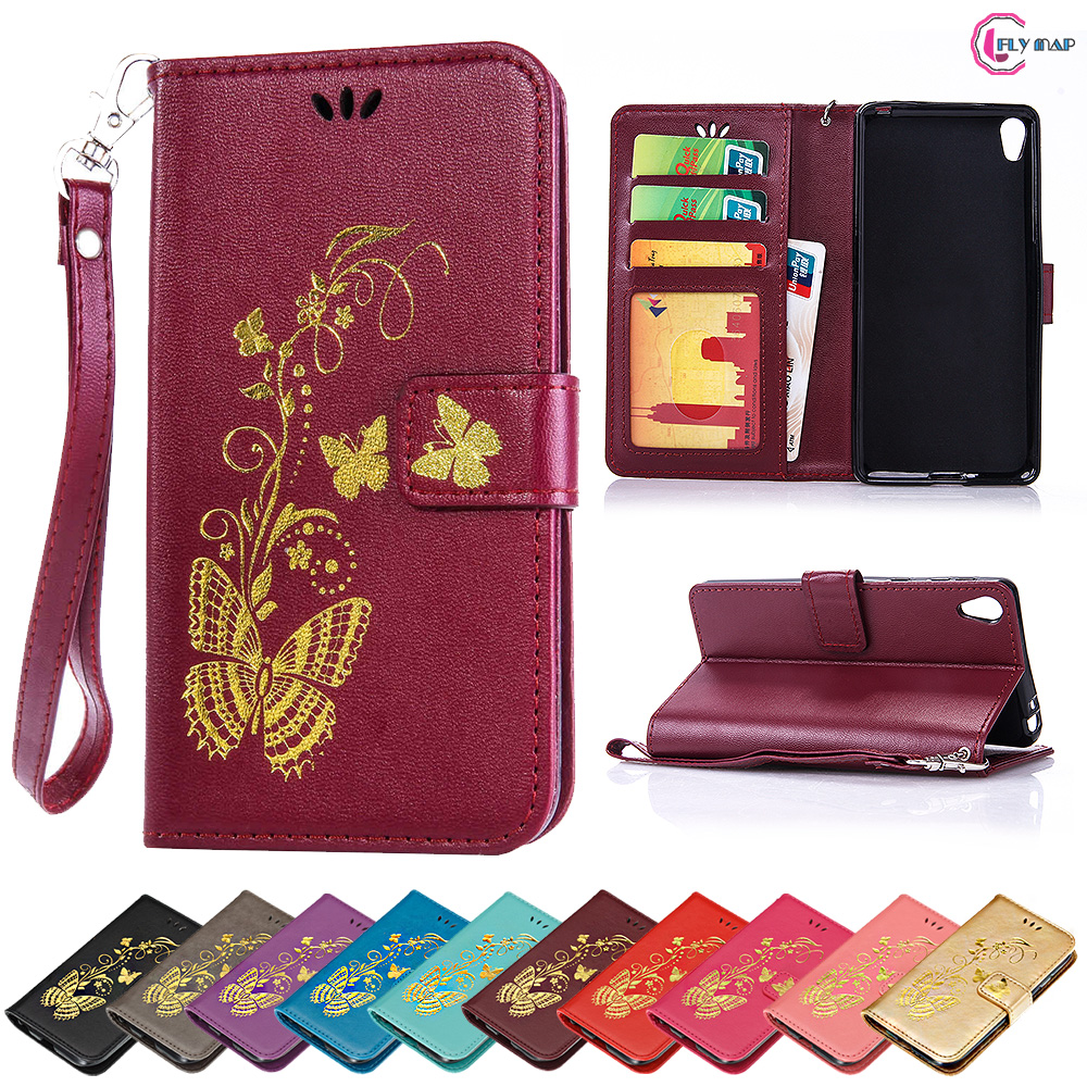 Flip Case for Sony Xperia E5 F3311 XperiaE5 Butterfly Case Wallet photo frame Phone Leat ...