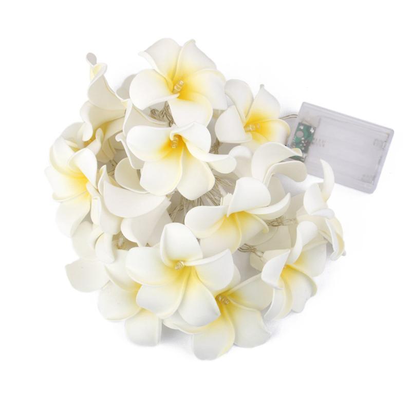 20pcs Egg Flower Lamp Battery Powered Christmas Lights Wedding Romantic Christmas Decoration String Fairy Light