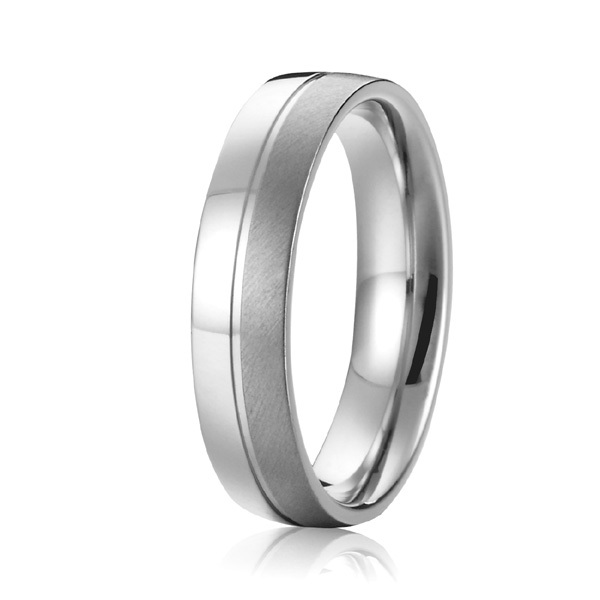 0a3434a9984 classic two tone brushed and polishing 6mm custom titanium wedding bands  anniversary promise rings men fashion