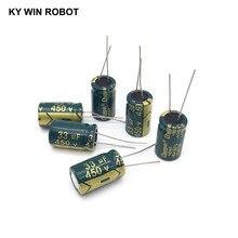 10 cái Nhôm điện phân tụ 33 uf 450 v 13*20mm frekuensi tinggi Radial Điện Phân kapasitor