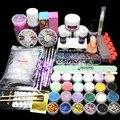 Free Shipping  Full  Nail Art Acrylic Powder Primer GlitterLiquid TIP Brush Glue Dust KITS UY