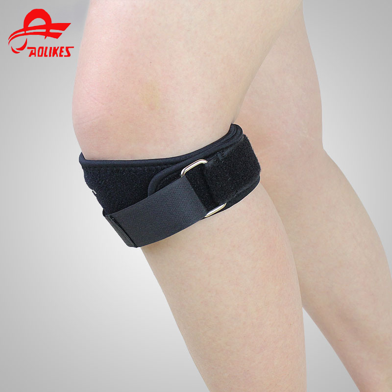 Aolikes 1pcs Fully Adjustable Jumperss Knee Patellar Tendon Support Strap Band Knee Support Brace Pads Guard for Running Basket