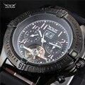 Silicone marca de luxo Calendário Mecânico automático Tourbillon Relógios Dos Homens Relógios de Pulso Jaragar militar assista montre homme