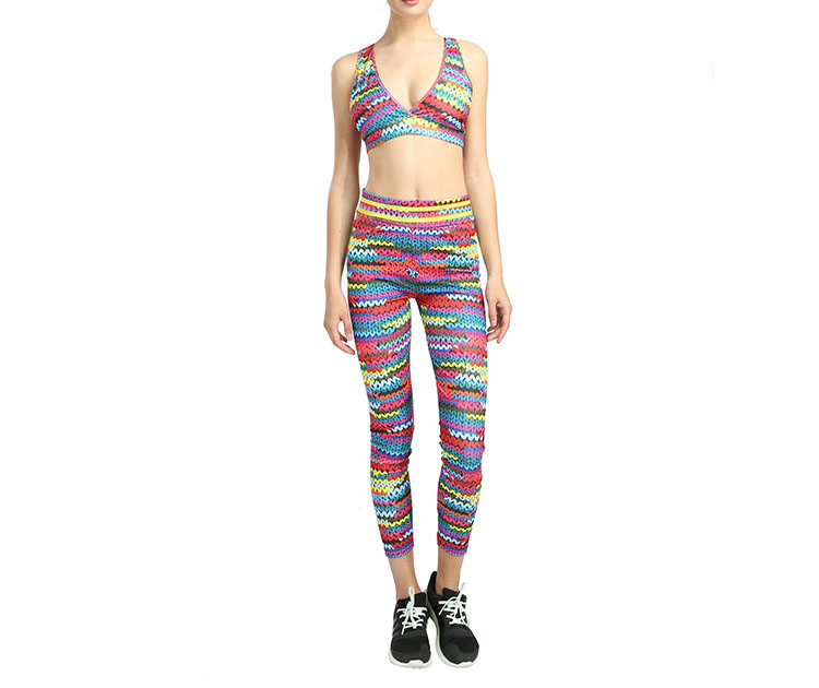 New Printed Yoga Sports Leggings Hip High Waist Women Slim High Waist Sports Leggings Yoga Pants Gym Fitness Elastic Trousers 6