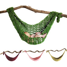 Newborn Photography Props Crochet Hammock Baby Photo Pictures Accessories Knitted Infant Hanging Cocoon Bed Hammock Swings(China)