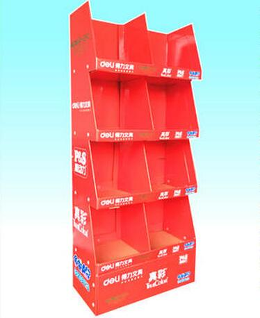 Corrugated Cardboard Counter Display Stand For Exhibition Or Magzines