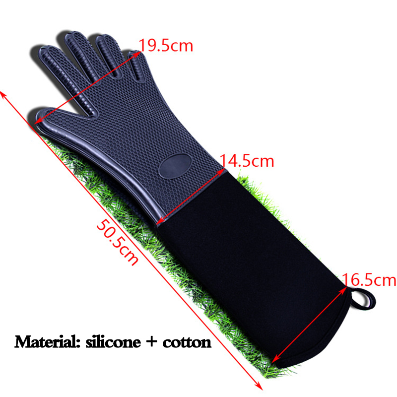 1pc Kitchenware Anti Slip Silicone Heat Insulation Honeycomb Gloves Microwave Oven Gloves Silicone Cooking Baking Tools Anti hot in Oven Mitts Oven Sleeves from Home Garden