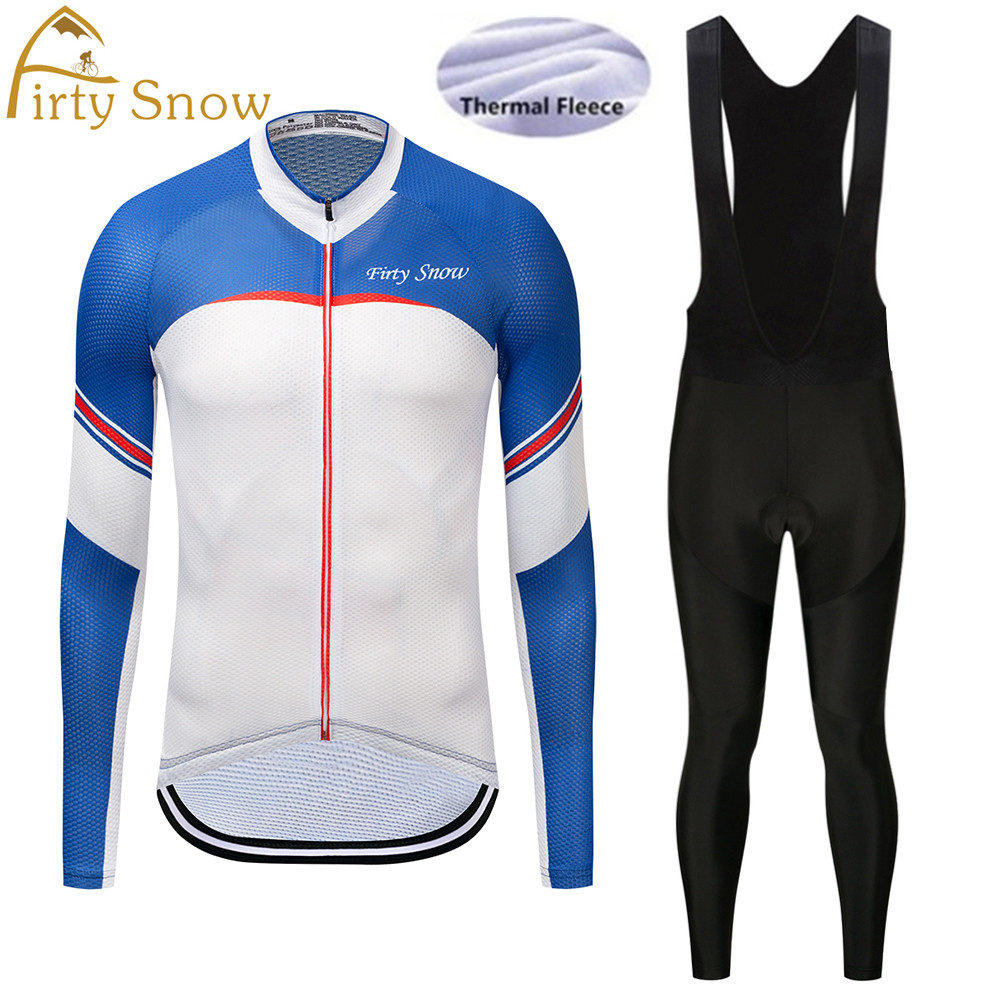 Firty sonw Sport Clothing Suit Ale Wear Super Warm Winter Thermal Fleece Cycling Jerseys Bicycle Bike MTB Ropa Ciclismo Pants