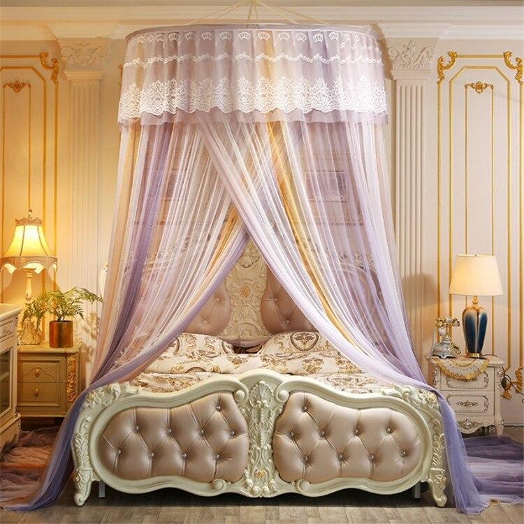 Portable dôme moustiquaire suspendu princesse lit rideau maille Double lit moustiquaire dentelle lit tente adultes auvent filet Klamboe