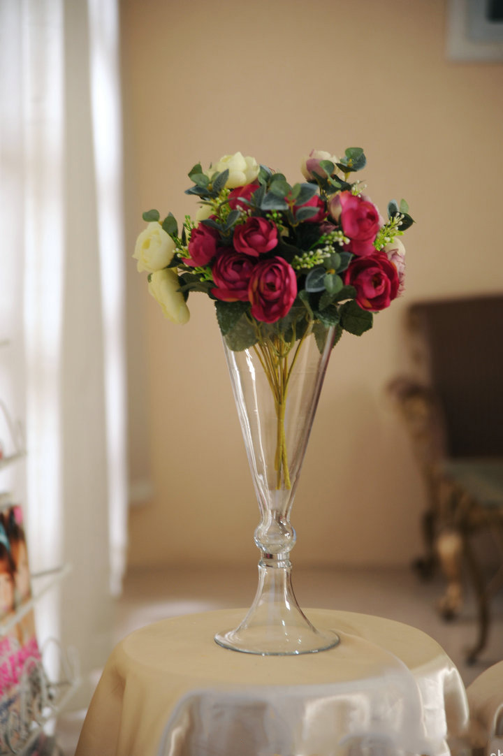 8pcs Crystal glass vase centerpieces for wedding table decoration ,wedding  flower stand candlestick(China - Online Get Cheap Glass Vase Centerpieces -Aliexpress.com Alibaba