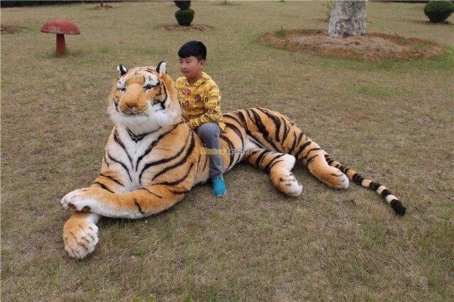 Fancytrader Столь же Реальны, Тигр! высокое Качество Игрушки 87 ''220 см Редко Встречается в Мире! огромные Гигантские Плюшевые Emulational Тигра FT90282