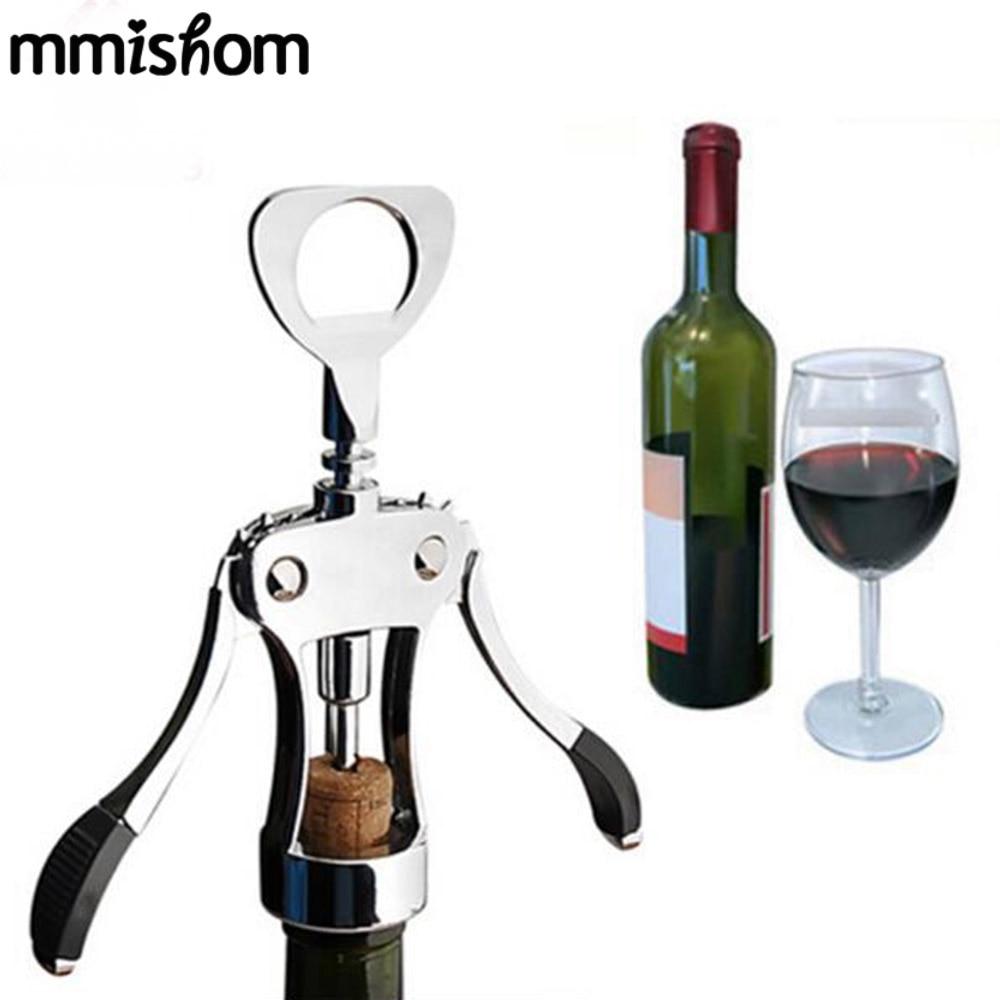 Water /& Wood Metal Cork Screw Multi-Function Red Wine Bottle Opener Cork Puller Corkscrew