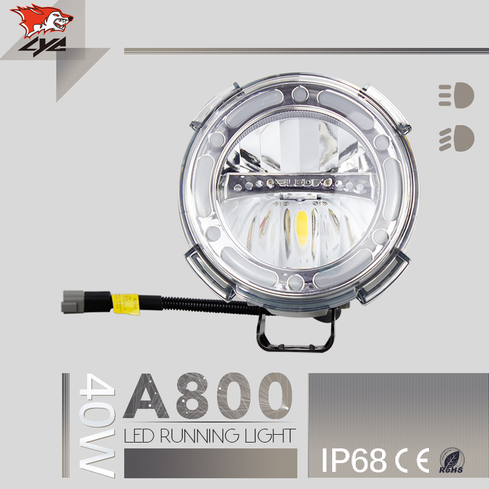 LYC 7 Inch Round Headlight Car Front Led Lights for Jeep Wrangler Head Light Waterproof IP68 low /High beam 12v 1800LM for SUV lyc 6000k led daylight for citroen c4 for nissan led headlights 12v car led lights ip 68 chips offroad work light 40w