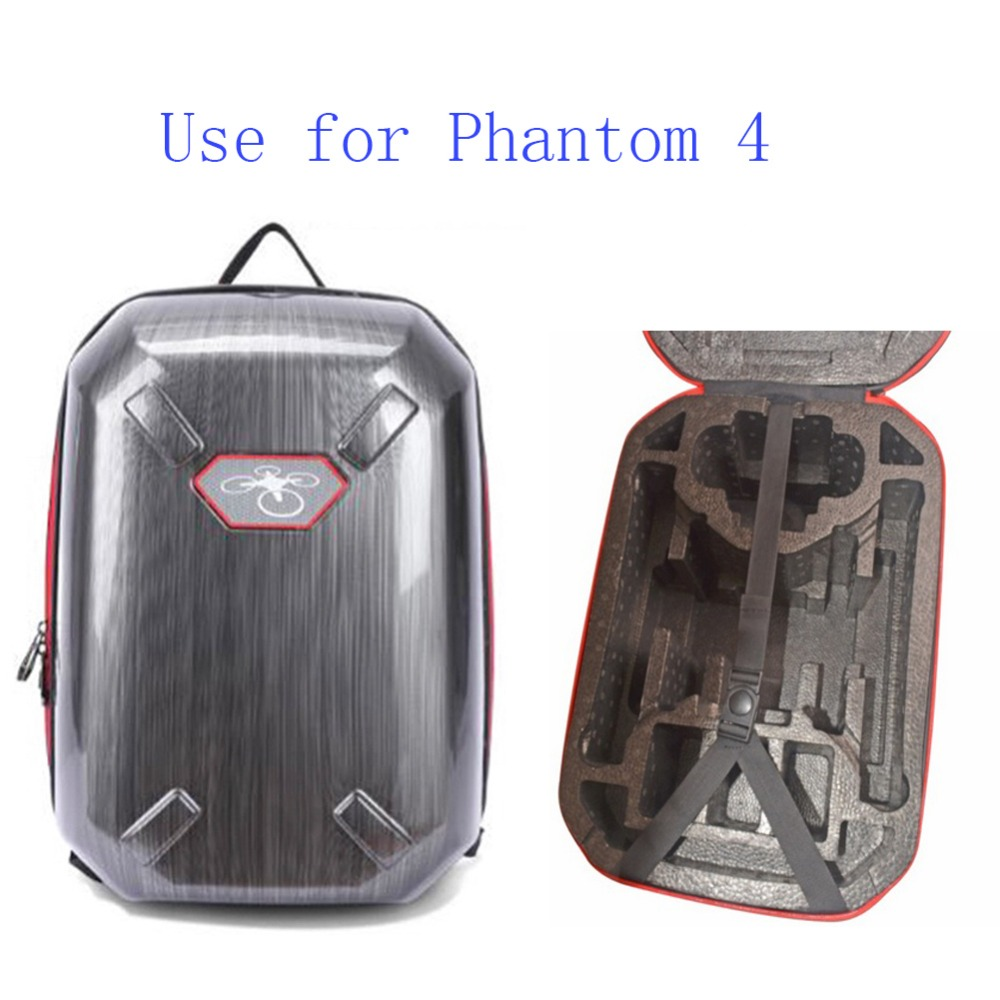 DJI Phantom 4 Drone Bag Hard shell Waterproof Backpack for FPV Drone DJI Phantom 4 Gray Drawing Process PC Backpack multi fonction drone bag backpack for dji phantom 4 phantom 4 pro plus phantom 3 series xiro drone digital dslr camera bag