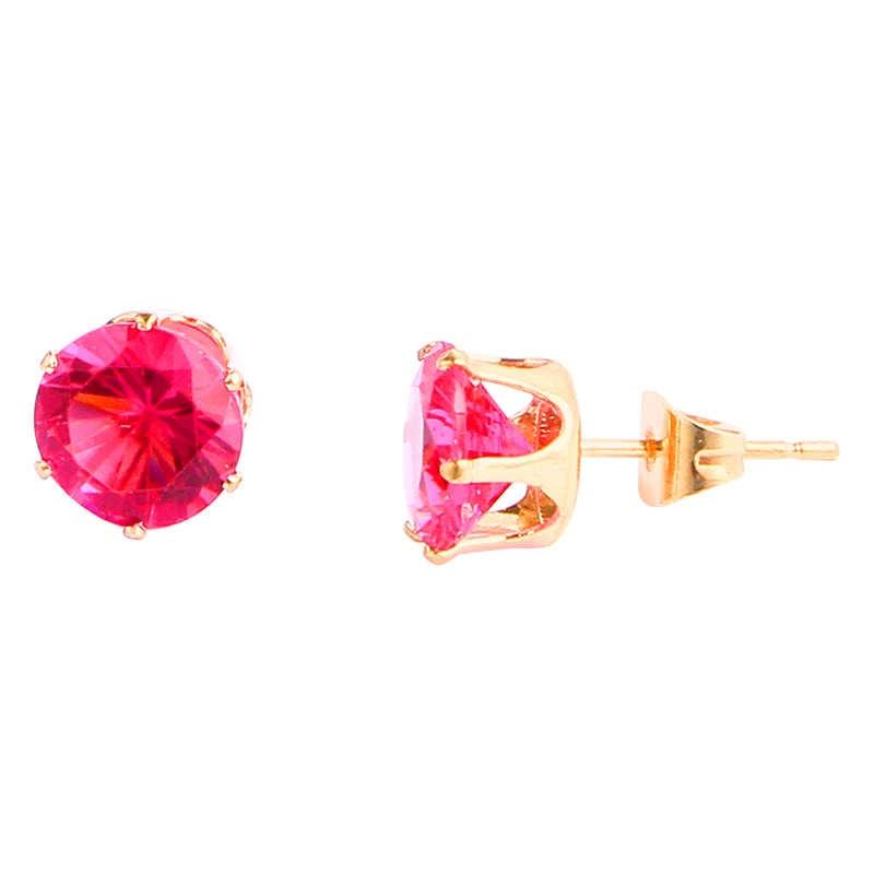 Elegant Rose 2018 Red Purple Color Set Round Pearl Stud Earrings for Women Wholesale Boucles D'oreilles Pour Les Femmes