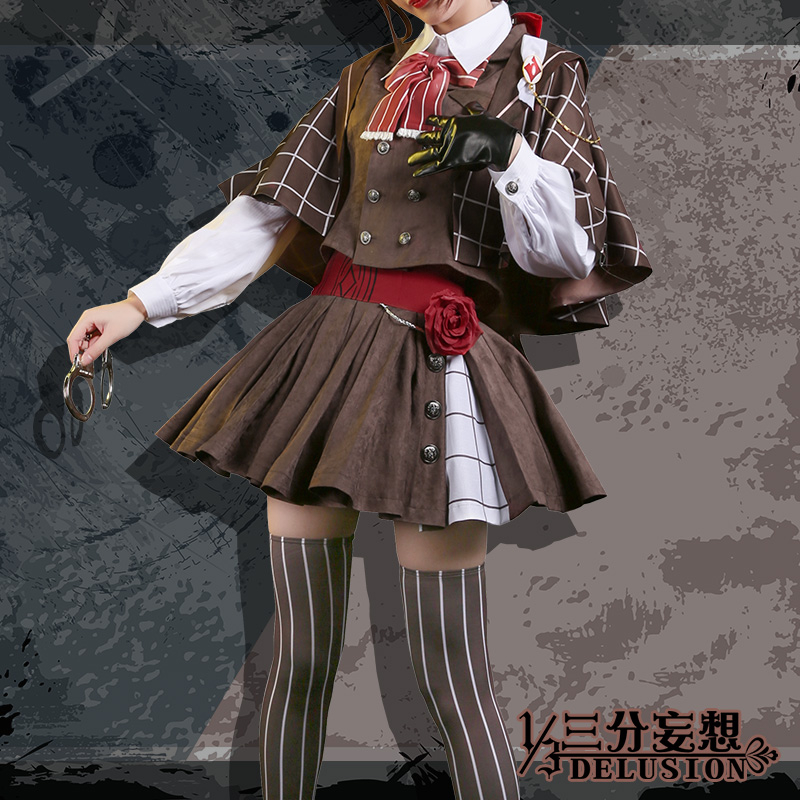 Anime VOCALOID Yuezheng Ling Vsinger North and South Sherlock Holmes Night Cosplay Costume Lolita Cos Retro Dress H