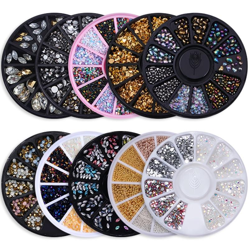 Chameleon 3D Art Decoration Beads Rhinestone Caviar Nail Studs