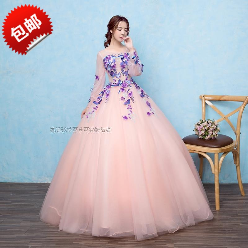 Long Sleeves Quinceanera Dresses 2017 Newest Vestidos de 15 anos ...