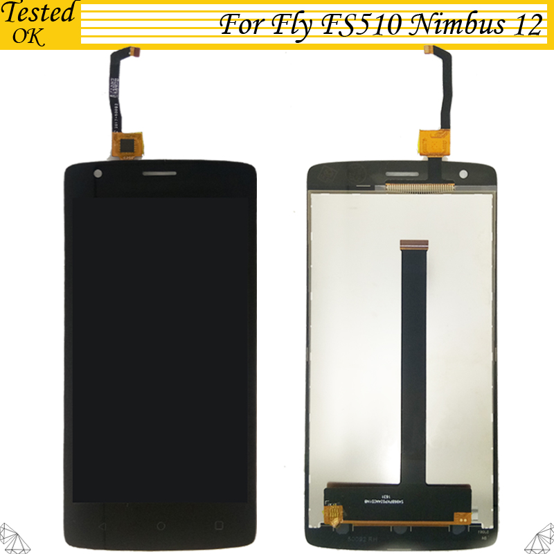 For Fly FS510 FS 510 Nimbus 12 LCD Display With Touch Screen Digitizer 100% Tested Working Assembly For Fly FS510 LCD