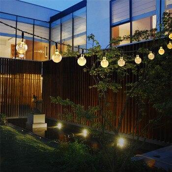 SICCSAEE Solar Lampen Kristall Ball Wasserdichte Bunte Fee Im Freien Solar Licht Garten Weihnachten Party Dekoration String Lichter