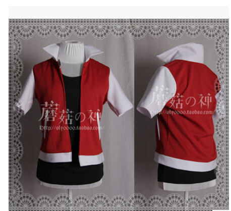 Anime Pokemon Trainer Red Cosplay Costume