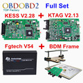 Full Set KESS V2 V2.28 + KTAG V2.13 + FGTech V54 + BDM Frame Car ECU Chip Tuning Tool K TAG K-TAG FG Tech Galletto 4 No Tokens