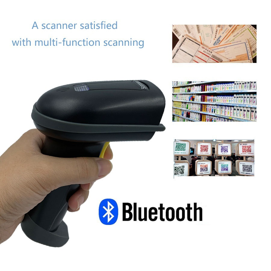 Handheld QR Reader Bluetooth Wireless 1D 2D Scanner Barcode android pos terminal high speed scanner code reader For warehouse in Scanners from Computer Office