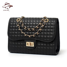 2018 Luxury Women Bag Chain Women Messenger Bags Black Diamond Lattice Shoulder Handbag Mochila Clutch Evening Bags Bolsas