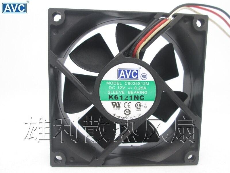 AVC c8025s12m 8025 8 см 12 В 0.25a Тихая шасси вентиляторы охлаждения
