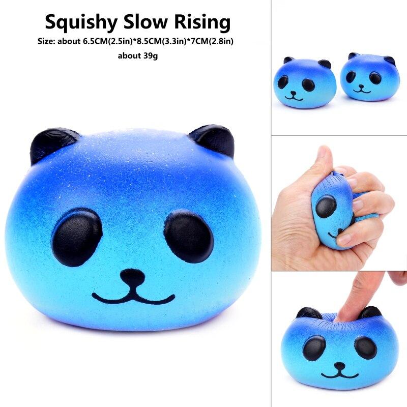 Kawaii PU Cute Star Galaxy Panda Squishy Soft  Bread Squish Slow Rising Xmas Decor Squeeze Relieve Stress Gadget Toys For Child