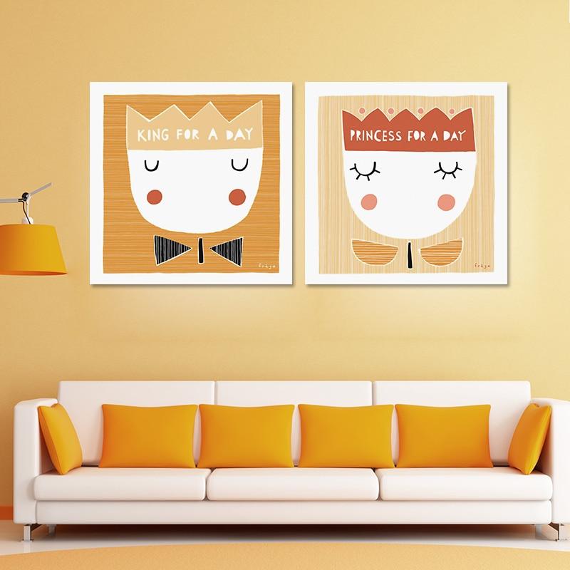 Colorful Princess Canvas Wall Art Photo - Art & Wall Decor ...