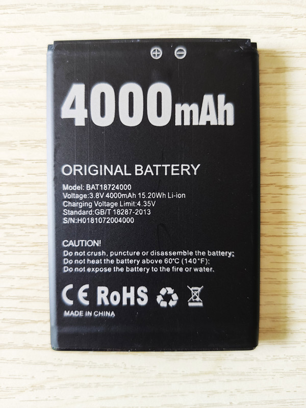 AZK 4000mAh High Quality Replacement Battery For Doogee X70 BAT18724000 Batterie Accumulator AKKU ACCU PIL Mobile Phone