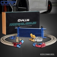 GPLUS 7ROW Thermostat Adapter Engine Racing Oil Cooler Kit For CAR/TRUCK SL