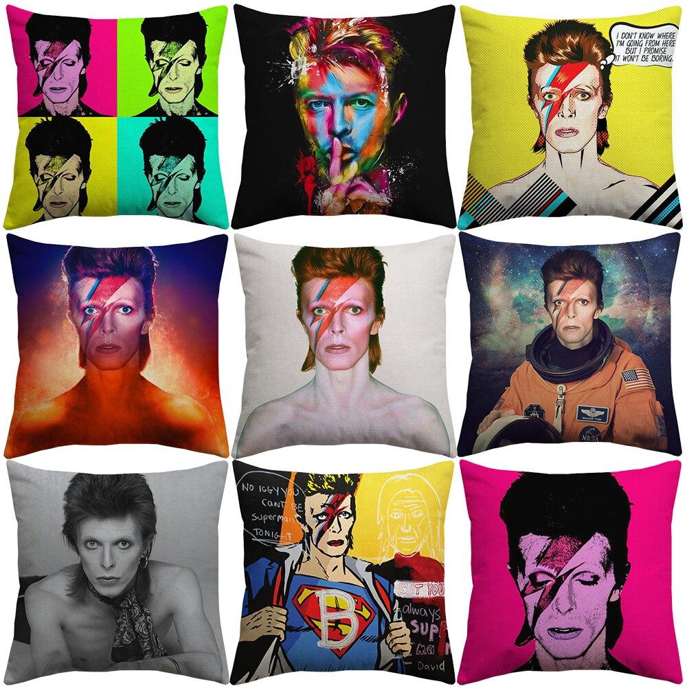 David Bowie Cushion Covers Euroeapn American Rock Pop