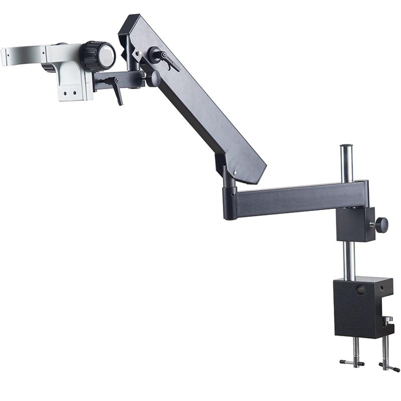 Clamps style Stereo Microscope Stand Rocker universal bracket 76MM Head Arm for Trinocular Binocular Microscopio