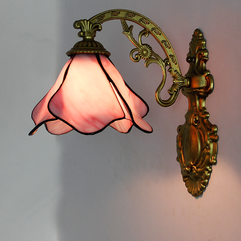 Artpad Modern Mediterranean Wall Lamp Led Colorful 12 Choice Beside Bedroom Vintage Indoor Wall Lamp With Iron Bracket Light