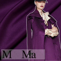 150cm wide purple thickening wool cashmere autumn and winter overcoat clothes fabric