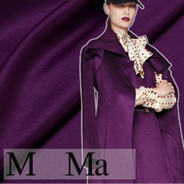 150cm wide purple thickening wool cashmere autumn and winter overcoat clothes fabric150cm wide purple thickening wool cashmere autumn and winter overcoat clothes fabric