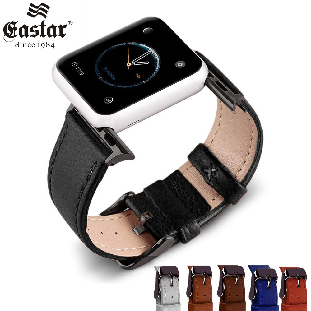 Eastar Colorful Bracelet Genuine Leather Watchband For Apple Watch Band 42mm 38mm iWatch Watch Accessories For Apple Watch Strap все цены