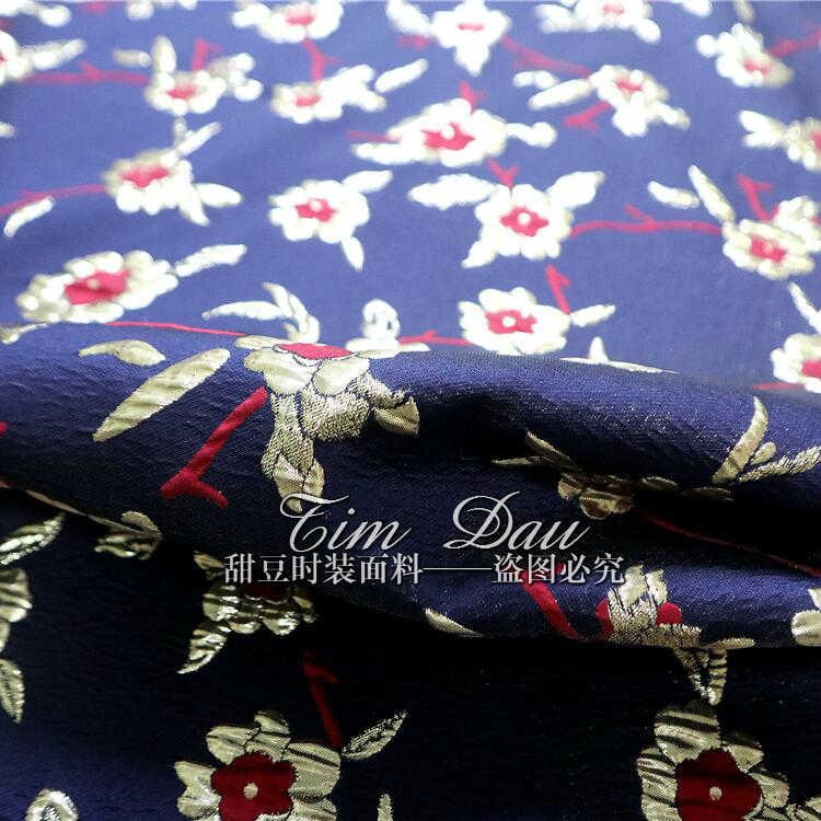 Elegante jacquard broccato tessuto del rivestimento del vestito tridimensionale jacquard tessuto di modo oro filo jacquard panno del tessuto