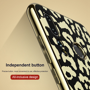 Image 3 - OTAO Plating Glass Leopard Print Case For Huawei P20 P30 Pro Mate 20 Lite Soft TPU Edge Cases Cover For Huawei Nova 4 3 3i Coque