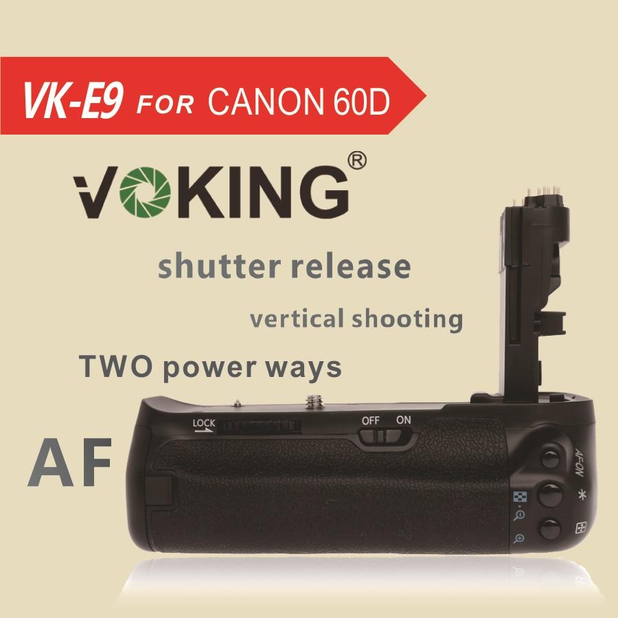 캐논 60D 용 수직 배터리 그립 홀더 VK E9 Voking
