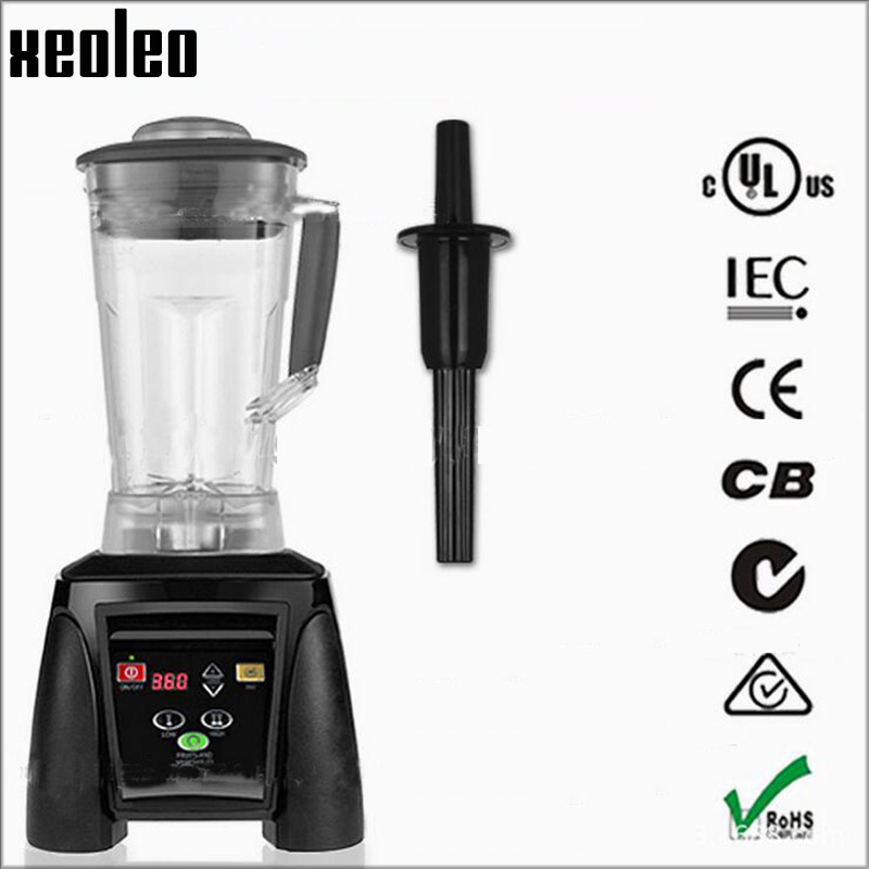 все цены на Xeoleo Commercial Food blender 3HP Blender 2L Food mixer 110V/220V Food machine Juice Blend mixer smoothie maker EU/AU/US Plug онлайн