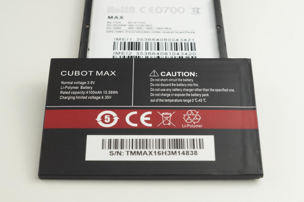 CUBOT MAX Battery 4100mAh Replacement backup battery For CUBOT MAX Cell Phone In Stock