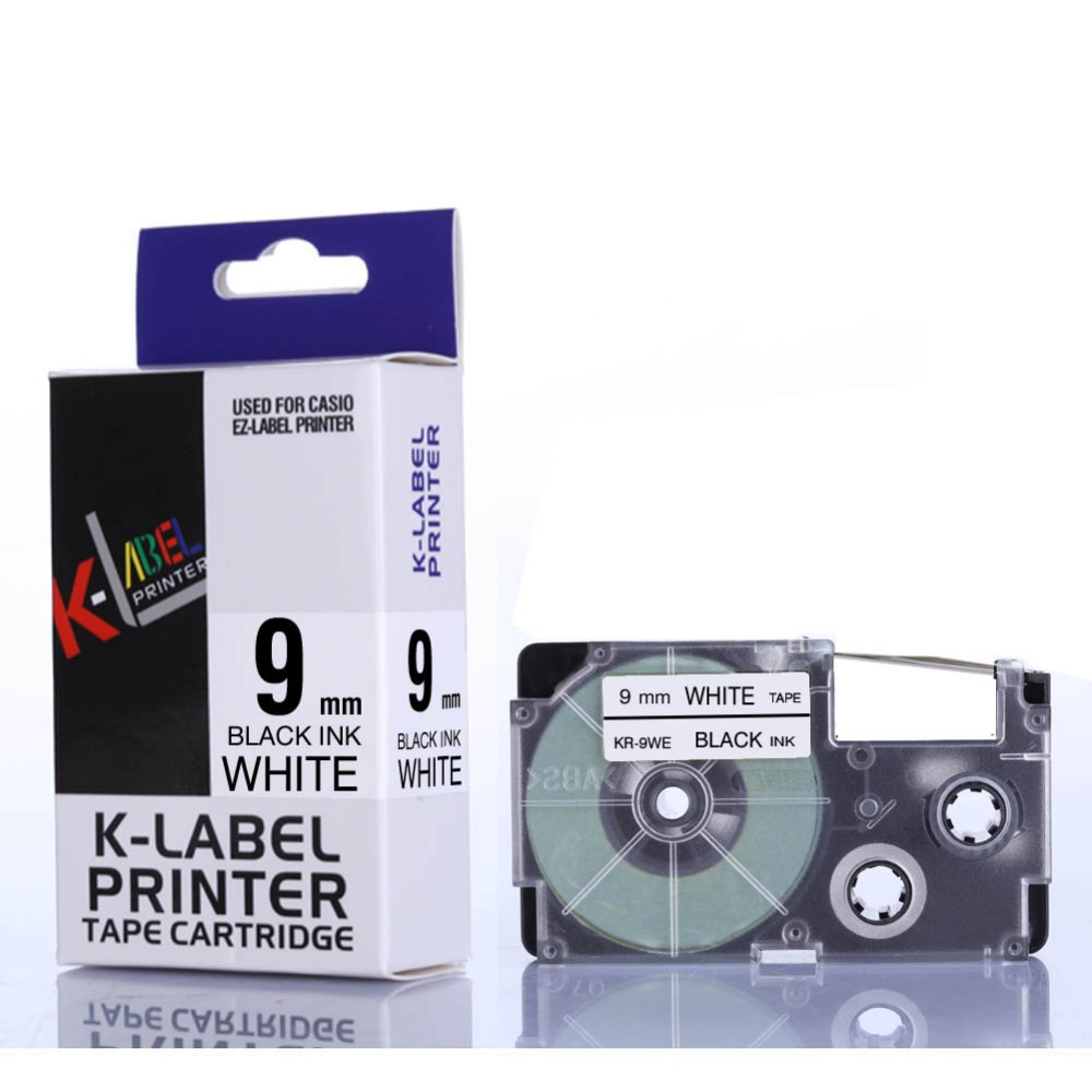 CIDY XR 9WE XR 9WE XR9WE 9mm black on white tape cartridge compatible for EZ label